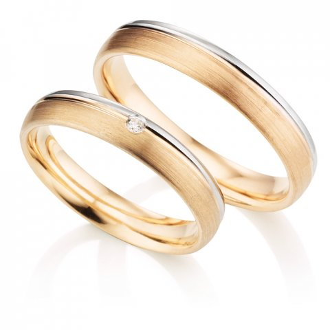 123traumringe Weissgold/Rotgold | 333